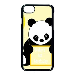 First Birthday Panda Card Apple Iphone 7 Seamless Case (black)