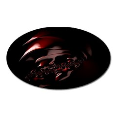 Fractal Mathematics Abstract Oval Magnet
