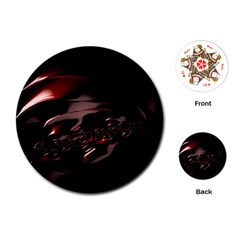 Fractal Mathematics Abstract Playing Cards (Round)