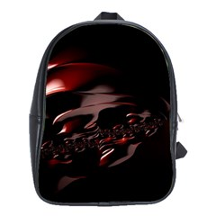 Fractal Mathematics Abstract School Bags(Large)