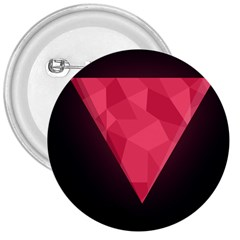 Geometric Triangle Pink 3  Buttons