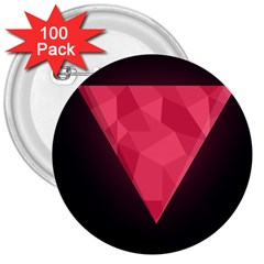 Geometric Triangle Pink 3  Buttons (100 pack)