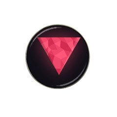 Geometric Triangle Pink Hat Clip Ball Marker (4 pack)