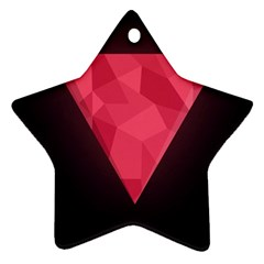 Geometric Triangle Pink Star Ornament (Two Sides)