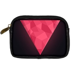 Geometric Triangle Pink Digital Camera Cases