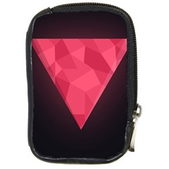 Geometric Triangle Pink Compact Camera Cases