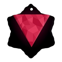 Geometric Triangle Pink Snowflake Ornament (Two Sides)