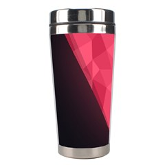 Geometric Triangle Pink Stainless Steel Travel Tumblers