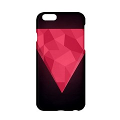 Geometric Triangle Pink Apple iPhone 6/6S Hardshell Case