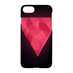 Geometric Triangle Pink Apple Iphone 7 Hardshell Case