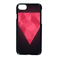 Geometric Triangle Pink Apple Iphone 7 Seamless Case (black)