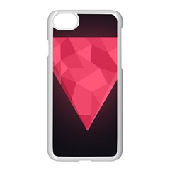 Geometric Triangle Pink Apple Iphone 7 Seamless Case (white)