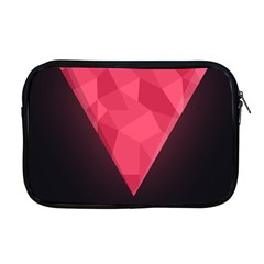 Geometric Triangle Pink Apple Macbook Pro 17  Zipper Case