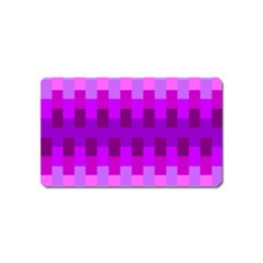 Geometric Cubes Pink Purple Blue Magnet (Name Card)