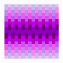 Geometric Cubes Pink Purple Blue Medium Glasses Cloth