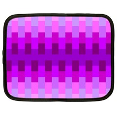 Geometric Cubes Pink Purple Blue Netbook Case (Large)