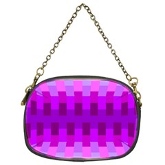 Geometric Cubes Pink Purple Blue Chain Purses (One Side)