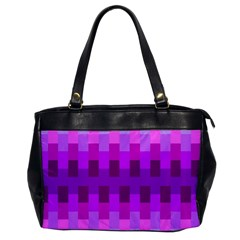 Geometric Cubes Pink Purple Blue Office Handbags
