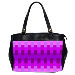 Geometric Cubes Pink Purple Blue Office Handbags (2 Sides)