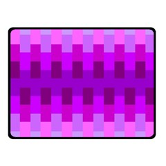 Geometric Cubes Pink Purple Blue Fleece Blanket (small)