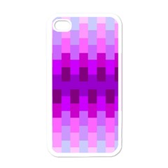 Geometric Cubes Pink Purple Blue Apple iPhone 4 Case (White)