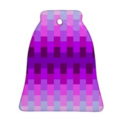 Geometric Cubes Pink Purple Blue Ornament (Bell)