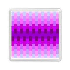 Geometric Cubes Pink Purple Blue Memory Card Reader (Square)