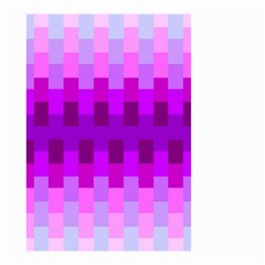 Geometric Cubes Pink Purple Blue Small Garden Flag (Two Sides)
