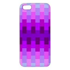 Geometric Cubes Pink Purple Blue Apple iPhone 5 Premium Hardshell Case