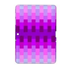 Geometric Cubes Pink Purple Blue Samsung Galaxy Tab 2 (10.1 ) P5100 Hardshell Case