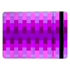 Geometric Cubes Pink Purple Blue Samsung Galaxy Tab Pro 12.2  Flip Case