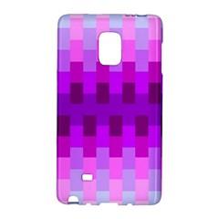 Geometric Cubes Pink Purple Blue Galaxy Note Edge