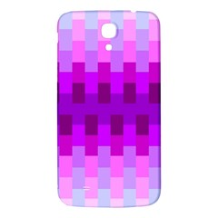 Geometric Cubes Pink Purple Blue Samsung Galaxy Mega I9200 Hardshell Back Case