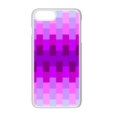 Geometric Cubes Pink Purple Blue Apple Iphone 7 Plus White Seamless Case