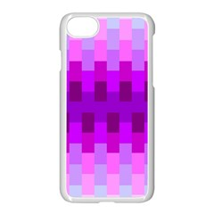 Geometric Cubes Pink Purple Blue Apple Iphone 7 Seamless Case (white)