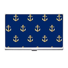 Gold Anchors Background Business Card Holders