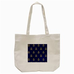 Gold Anchors Background Tote Bag (Cream)