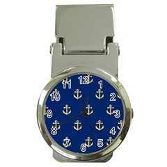 Gold Anchors Background Money Clip Watches