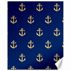 Gold Anchors Background Canvas 16  x 20