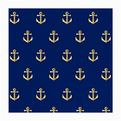 Gold Anchors Background Medium Glasses Cloth (2-Side)