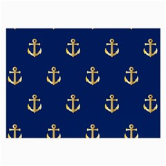 Gold Anchors Background Large Glasses Cloth