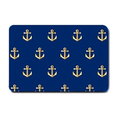 Gold Anchors Background Small Doormat