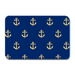 Gold Anchors Background Plate Mats