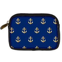 Gold Anchors Background Digital Camera Cases