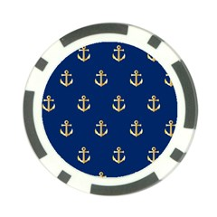 Gold Anchors Background Poker Chip Card Guard (10 pack)