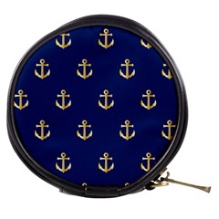 Gold Anchors Background Mini Makeup Bags