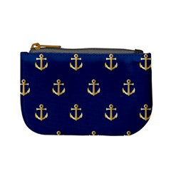 Gold Anchors Background Mini Coin Purses