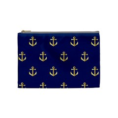 Gold Anchors Background Cosmetic Bag (Medium)