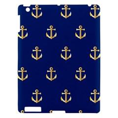 Gold Anchors Background Apple iPad 3/4 Hardshell Case