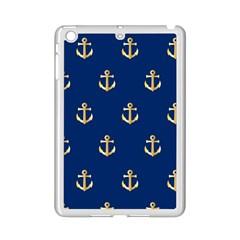 Gold Anchors Background iPad Mini 2 Enamel Coated Cases